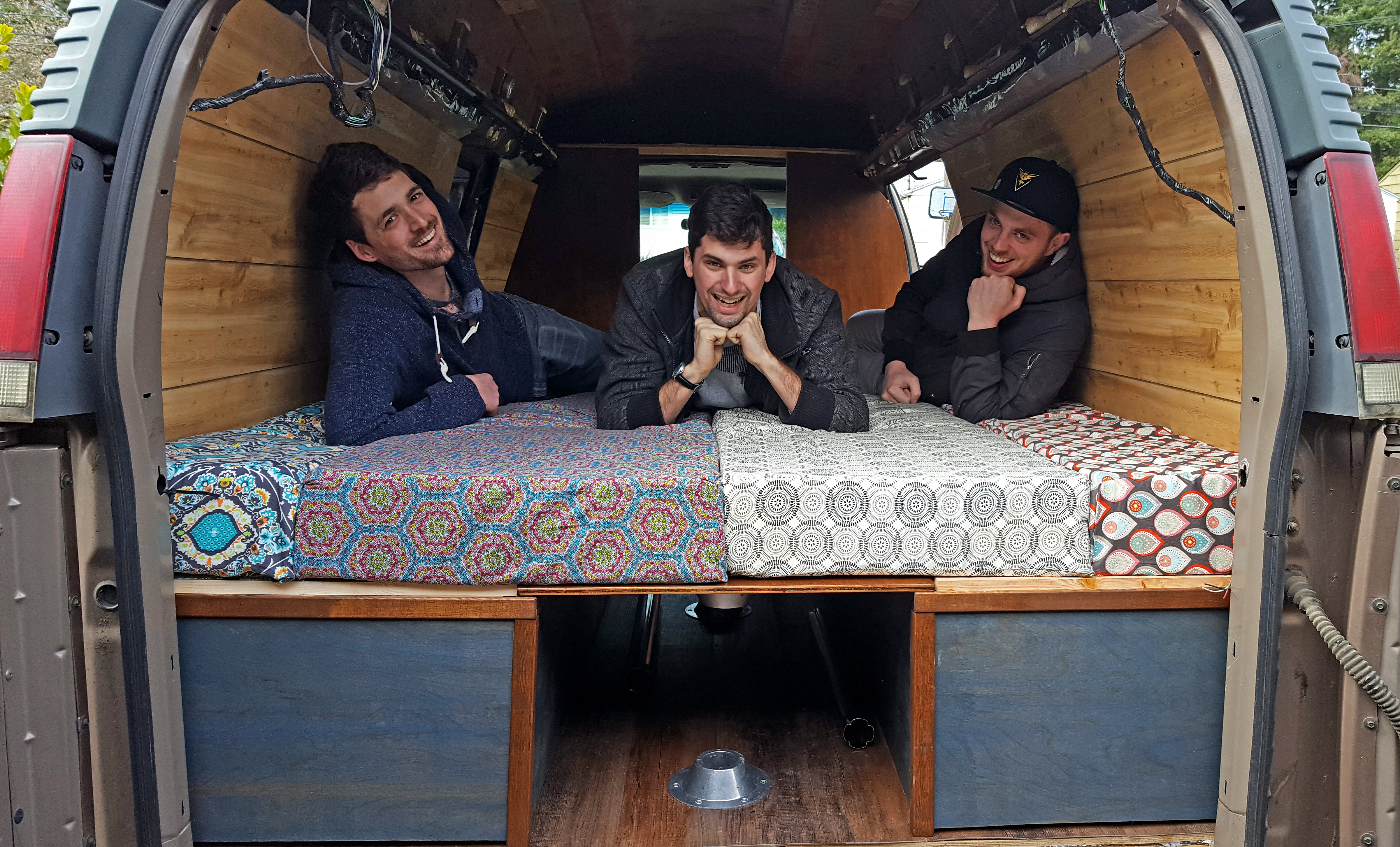 DIY Camper Van Bed And Table Construction Tutorial